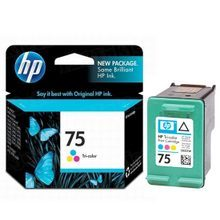 Original HP 75 Tri-Color Ink Cartridge in Retail Packaging (CB337WN)