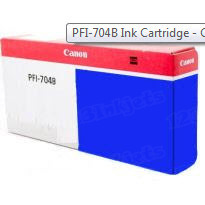 Canon PFI-704B Blue OEM Ink Cartridge, 3869B001AA