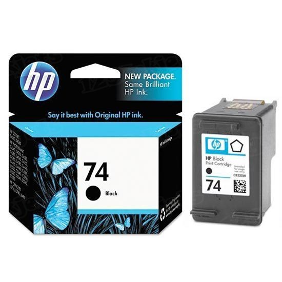 HP 74 Black Original Ink Cartridge CB335WN