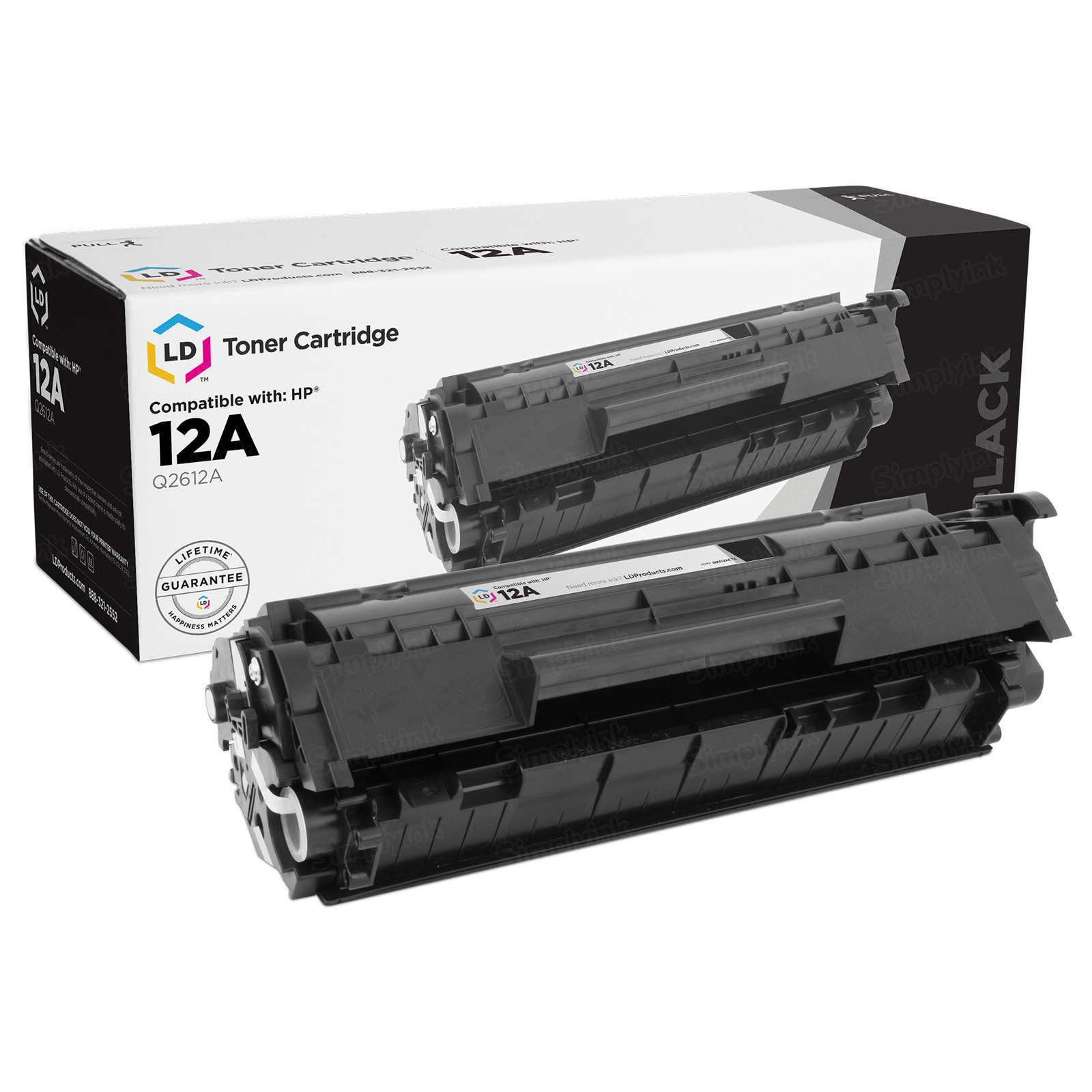 Replacement Black Toner for HP 12A