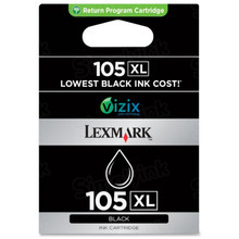 Lexmark #105XL Black Inkjet Cartridge, OEM 14N0822