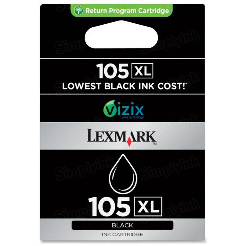 Lexmark 105XL Black OEM Ink Cartridge (14N0822)