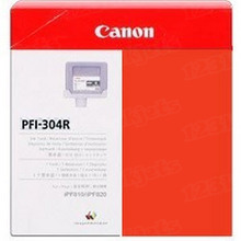 Canon PFI-304R Red OEM Ink Cartridge, 3855B001AA