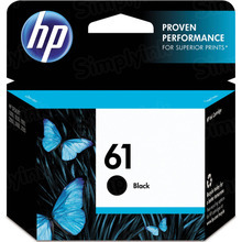 Genuine HP 61 Black Ink Cartridge in Retail Packaging (CH561WN)