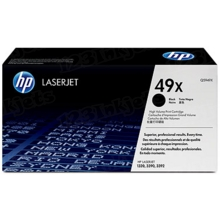 HP 49X (Q5949X) Black High Yield Original Toner Cartridge in Retail Packaging