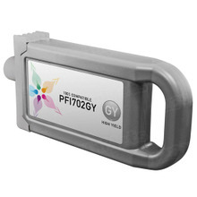 Compatible Canon PFI-702GY High Yield Pigment Gray Ink Cartridges