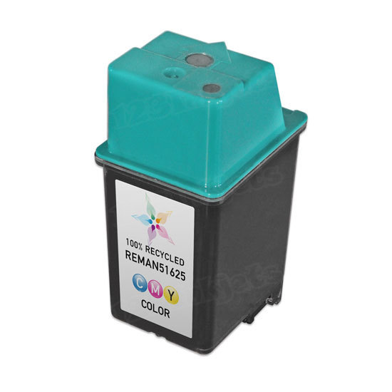 Remanufactured Replacement Tri-Color Ink for HP 25