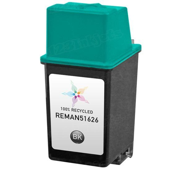 Remanufactured Replacement Black Ink for HP 26