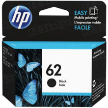 Original HP 62 Black Ink Cartridge in Retail Packaging (C2P04AN)