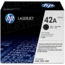 HP 42A (Q5942A) Black Original Toner Cartridge in Retail Packaging