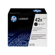 HP 42X (Q5942X) Black High Yield Original Toner Cartridge in Retail Packaging