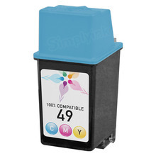 Remanufactured Replacement Ink Cartridge for Hewlett Packard 51649A (HP 49) Tri-Color