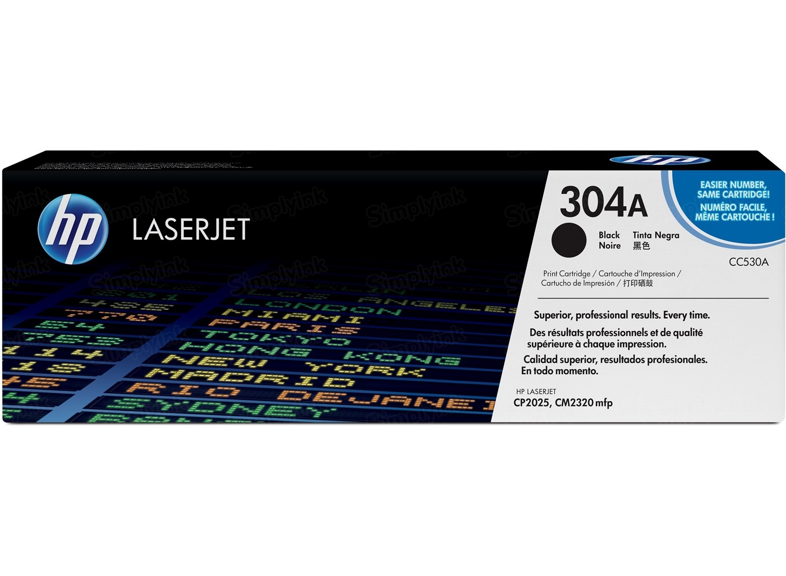 Original HP CC530A (304A) Black Toner