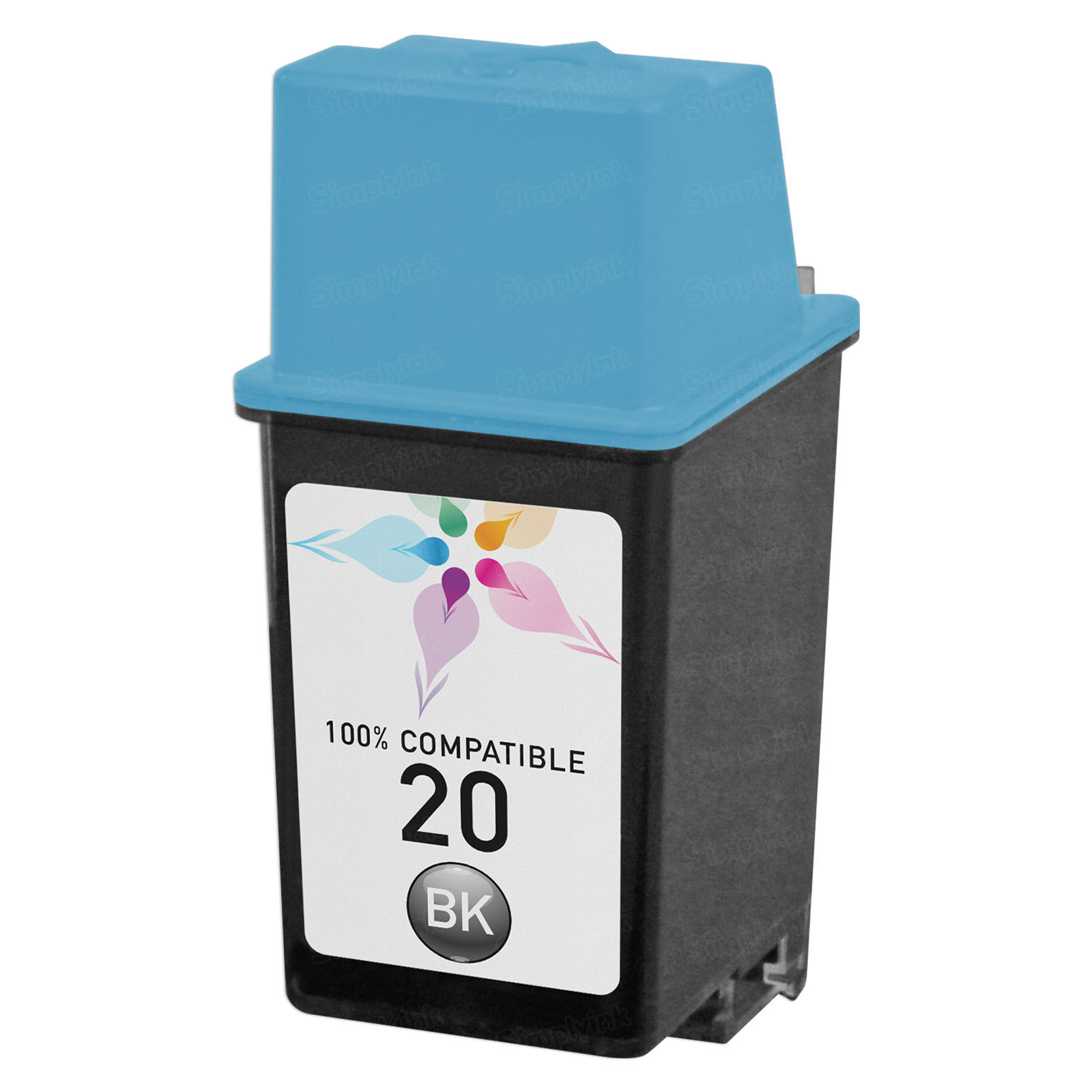 Remanufactured Replacement Black Ink for HP 20