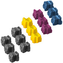 Compatible Phaser 8560 Xerox Set of 15 Solid Ink Sticks: Black, Cyan, Magenta, & Yellow