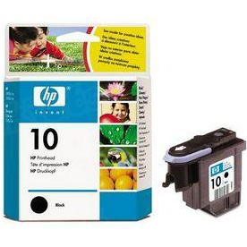 HP 10 Black Original Printhead C4800A