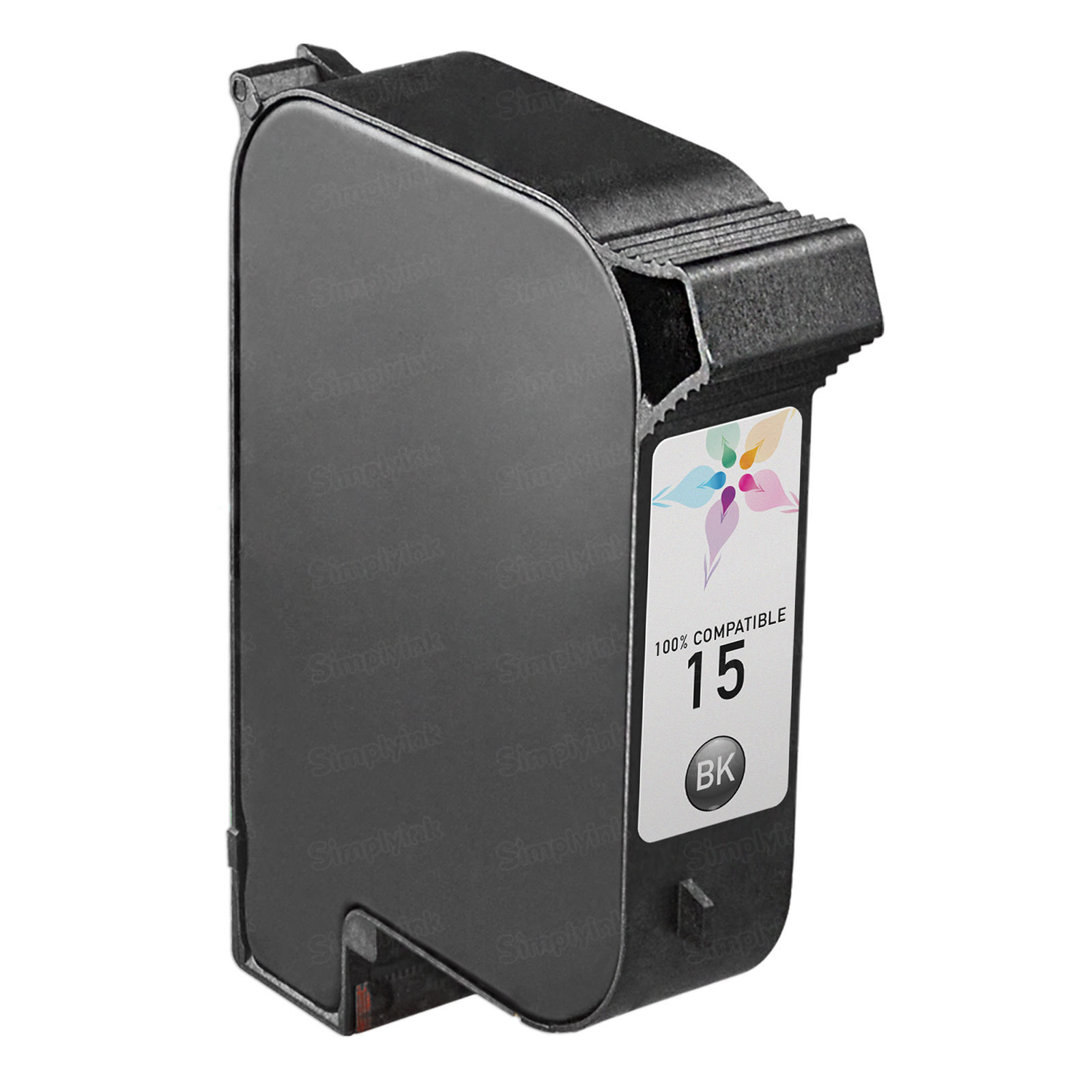 Remanufactured Replacement Black Ink for HP 15