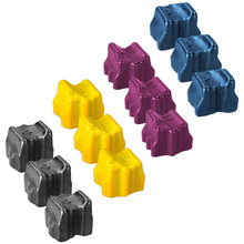 Compatible Phaser 8500 Xerox Set of 12 Solid Ink Sticks: Black, Cyan, Magenta, & Yellow