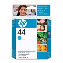 Original HP 44 Cyan Ink Cartridge in Retail Packaging (51644C)