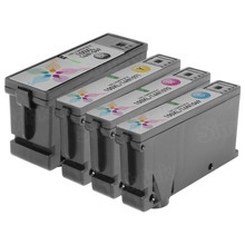 Compatible 4 Pack for Lexmark 100XL: 1 Black, Cyan, Magenta, Yellow