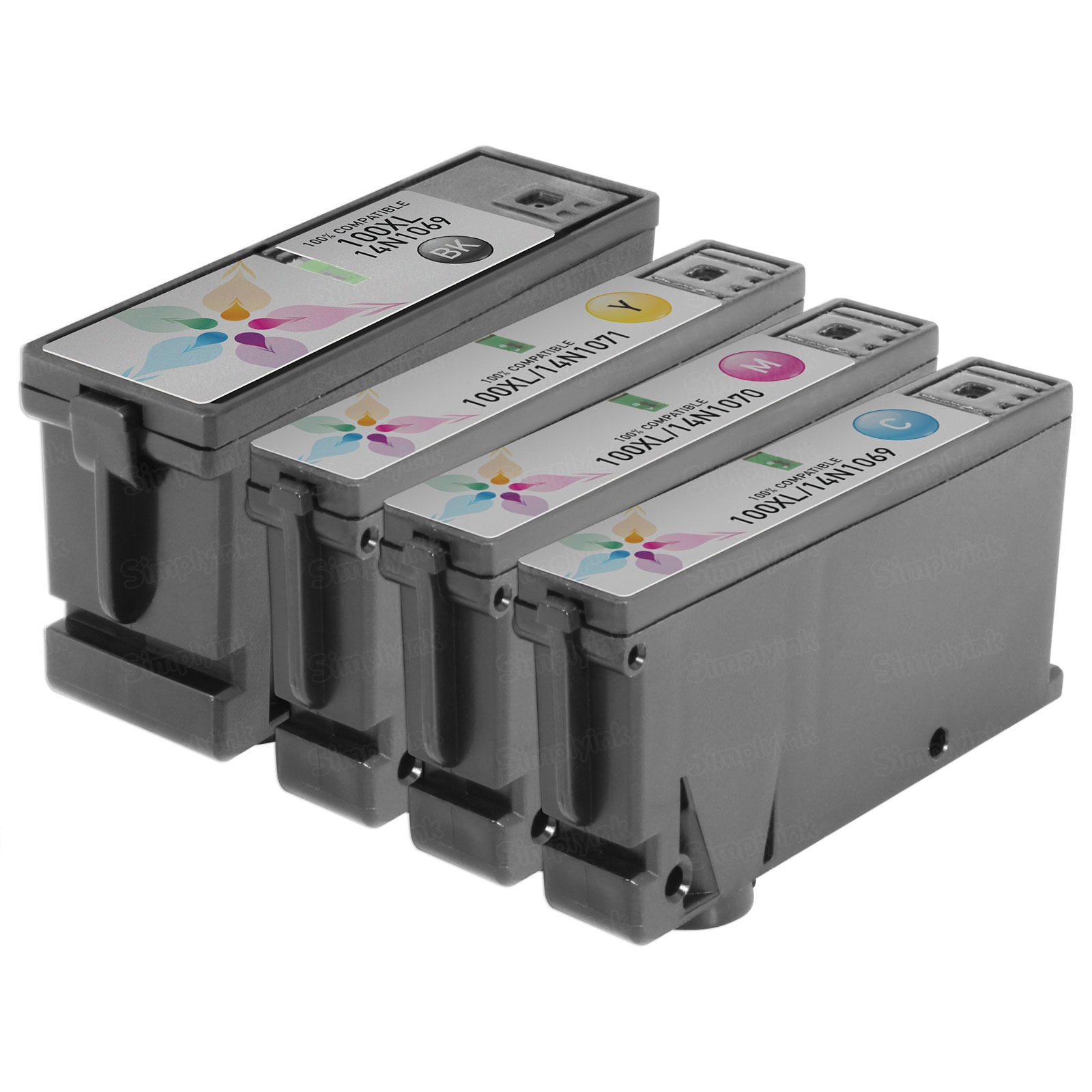 Compatible 100XL 4 Pack for Lexmark