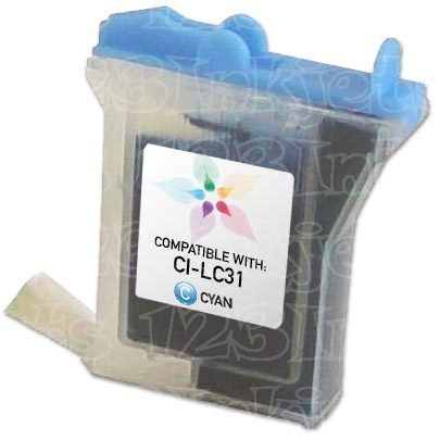 Brother Compatible LC31C Cyan Ink