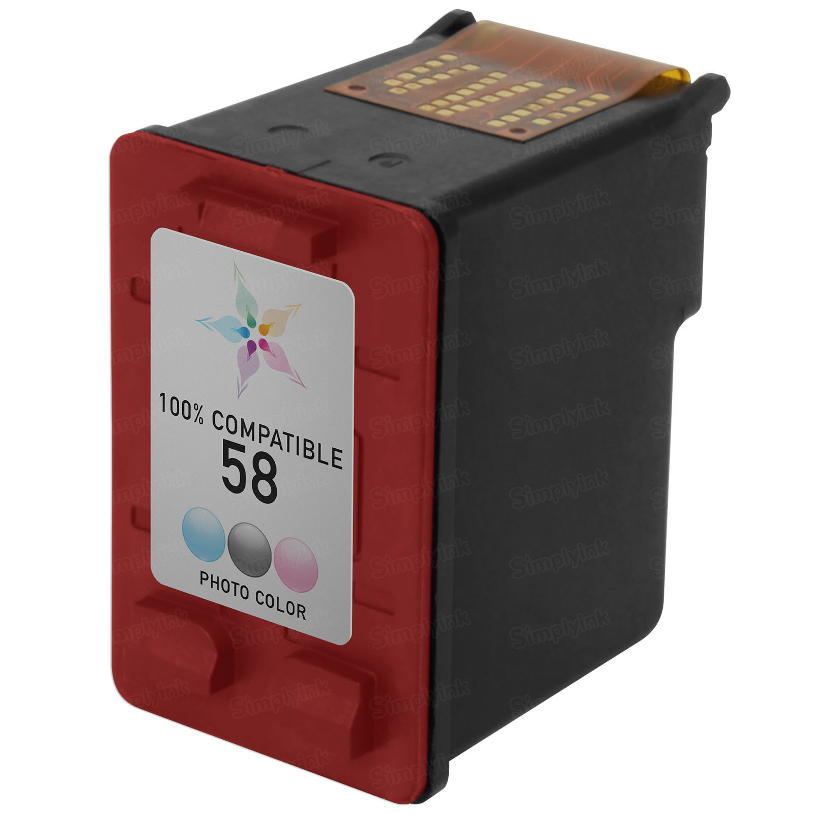 Remanufactured Replacement Photo Color Ink for HP 58