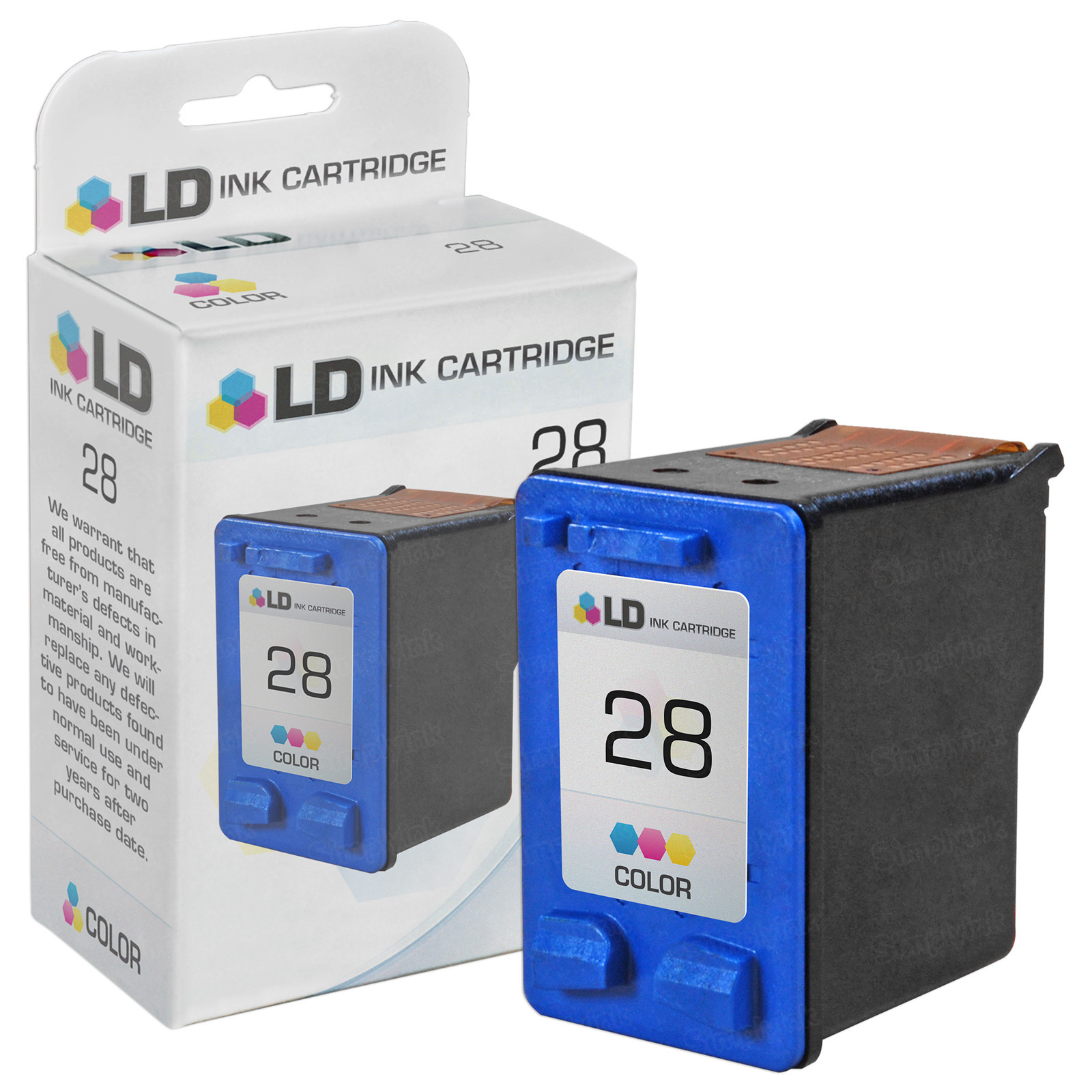 Remanufactured Replacement Tri-Color Ink for HP 28