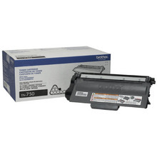 OEM Brother TN750 High Yield Black Laser Toner Cartridge