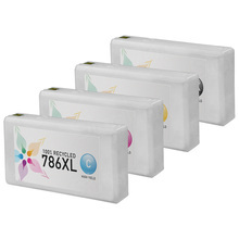 Remanufactured 4 Pack for Epson 786XL: 1 Black, Cyan, Magenta, Yellow
