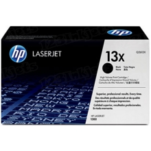 HP 13X (Q2613X) Black High Yield Original Toner Cartridge in Retail Packaging