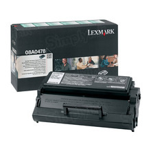 Lexmark OEM High Yield Black Return Program Laser Toner Cartridge, 08A0478 (E320/E322 Series) (6K Page Yield)