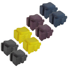 Compatible ColorQube 8570 Xerox Set of 8 Solid Ink Sticks: Black, Cyan, Magenta, & Yellow