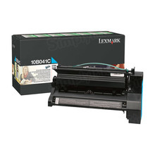 Lexmark OEM Cyan Return Program Laser Toner Cartridge, 10B041C (C750/X750 Series) (6K Page Yield)