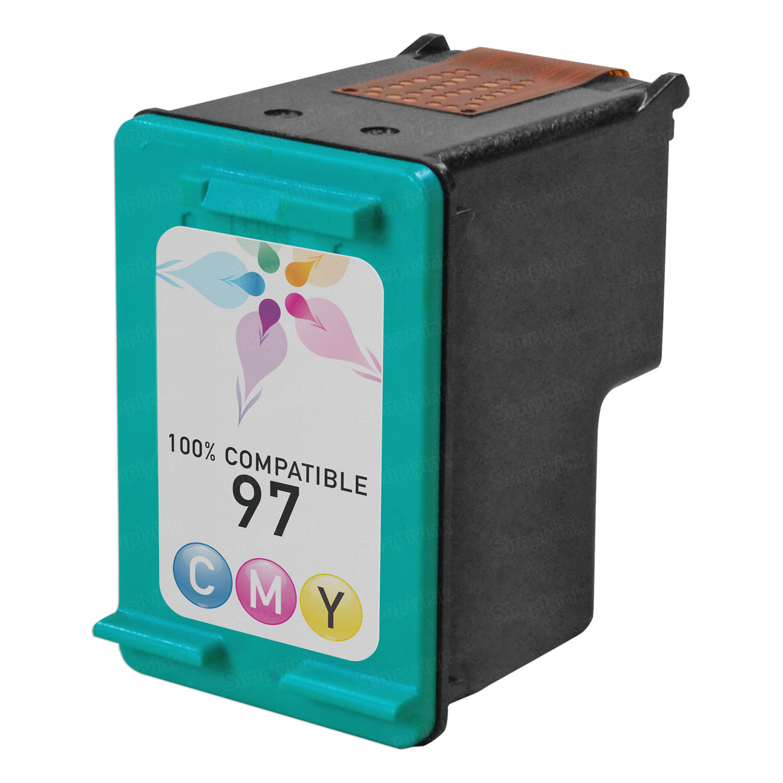 Remanufactured Replacement Tri-Color Ink for HP 97
