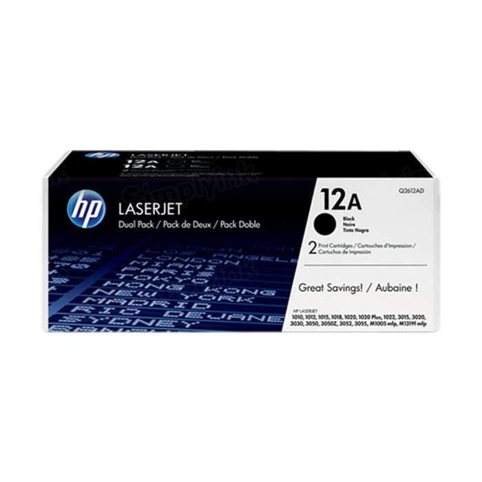 Original HP Q2612AD (12A) Black Toner