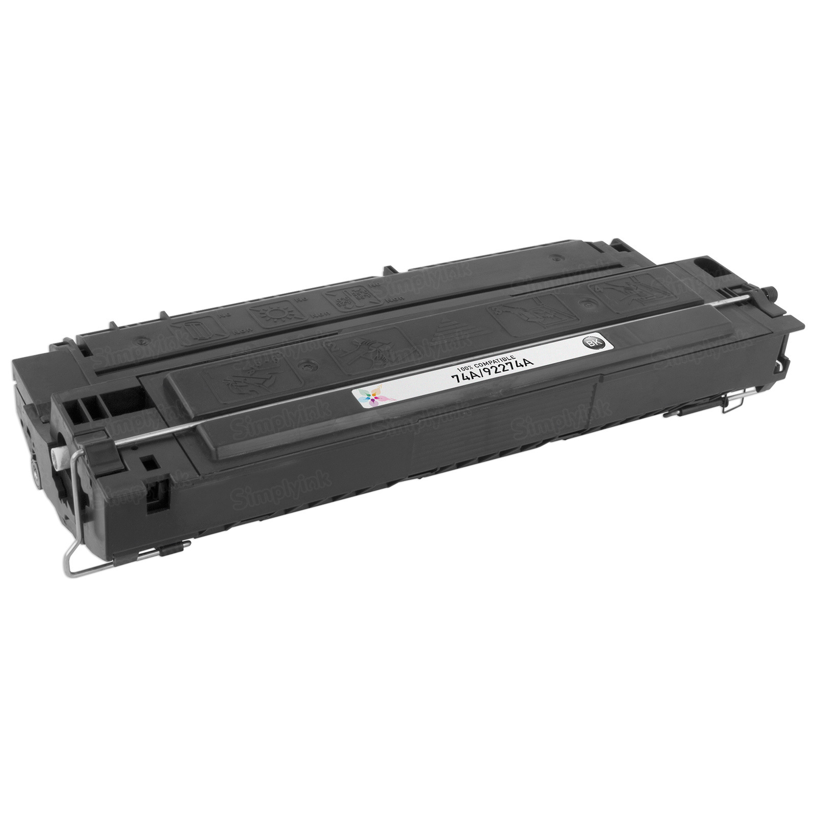 Remanufactured Replacement Black Laser Toner for HP 74A