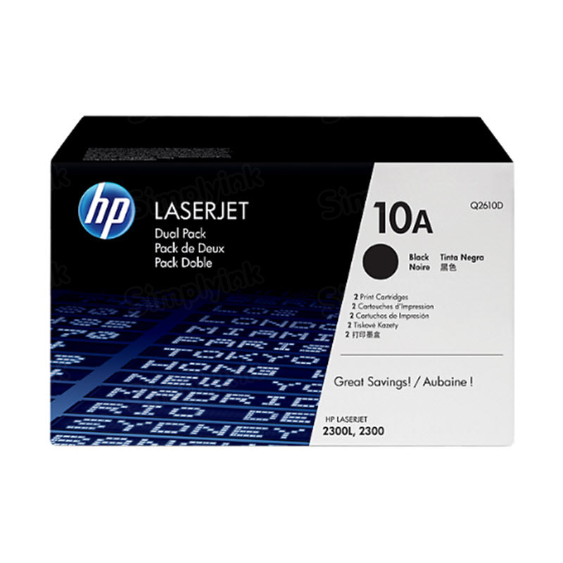 Original HP Q2610D (10A) Black Toner