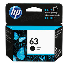 Original HP 63 Black Ink Cartridge in Retail Packaging (F6U62AN)