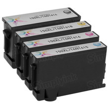 Compatible 4 Pack for Lexmark 150XL: 1 Black, Cyan, Magenta, Yellow