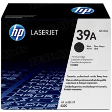 HP 39A (Q1339A) Black Original Toner Cartridge in Retail Packaging