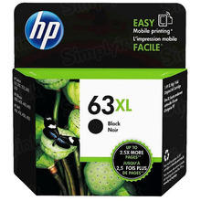 Original HP 63XL Black Ink Cartridge in Retail Packaging (F6U64AN) High-Yield