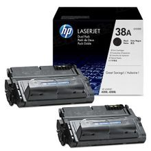 HP 38A (Q1338D) Black Original Toner Cartridge in Retail Packaging
