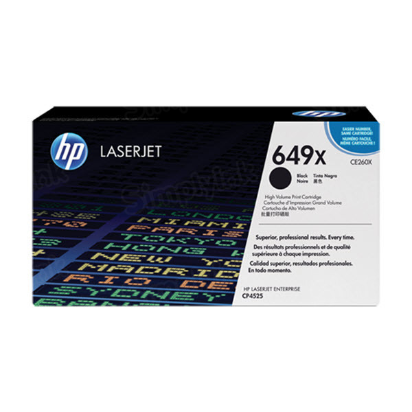Original HP CE260X (649X) HY Black Toner