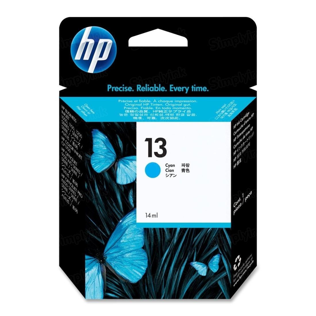 HP 13 Cyan Original Ink Cartridge C4815A