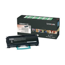 Lexmark OEM High Yield Black Return Program Laser Toner Cartridge, X264H11G (9K Page Yield)