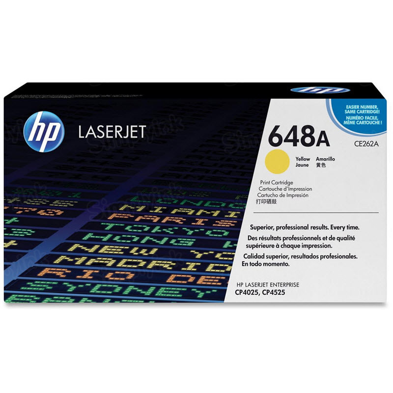 Original HP CE262A (648A) Yellow Toner