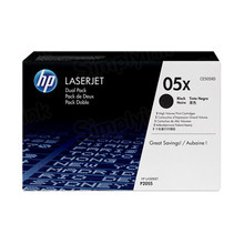 HP 05X (CE505XD) Black High Yield Original Toner Cartridge in Retail Packaging