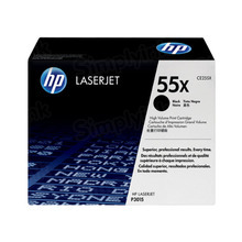 HP 55X (CE255X) Black High Yield Original Toner Cartridge in Retail Packaging