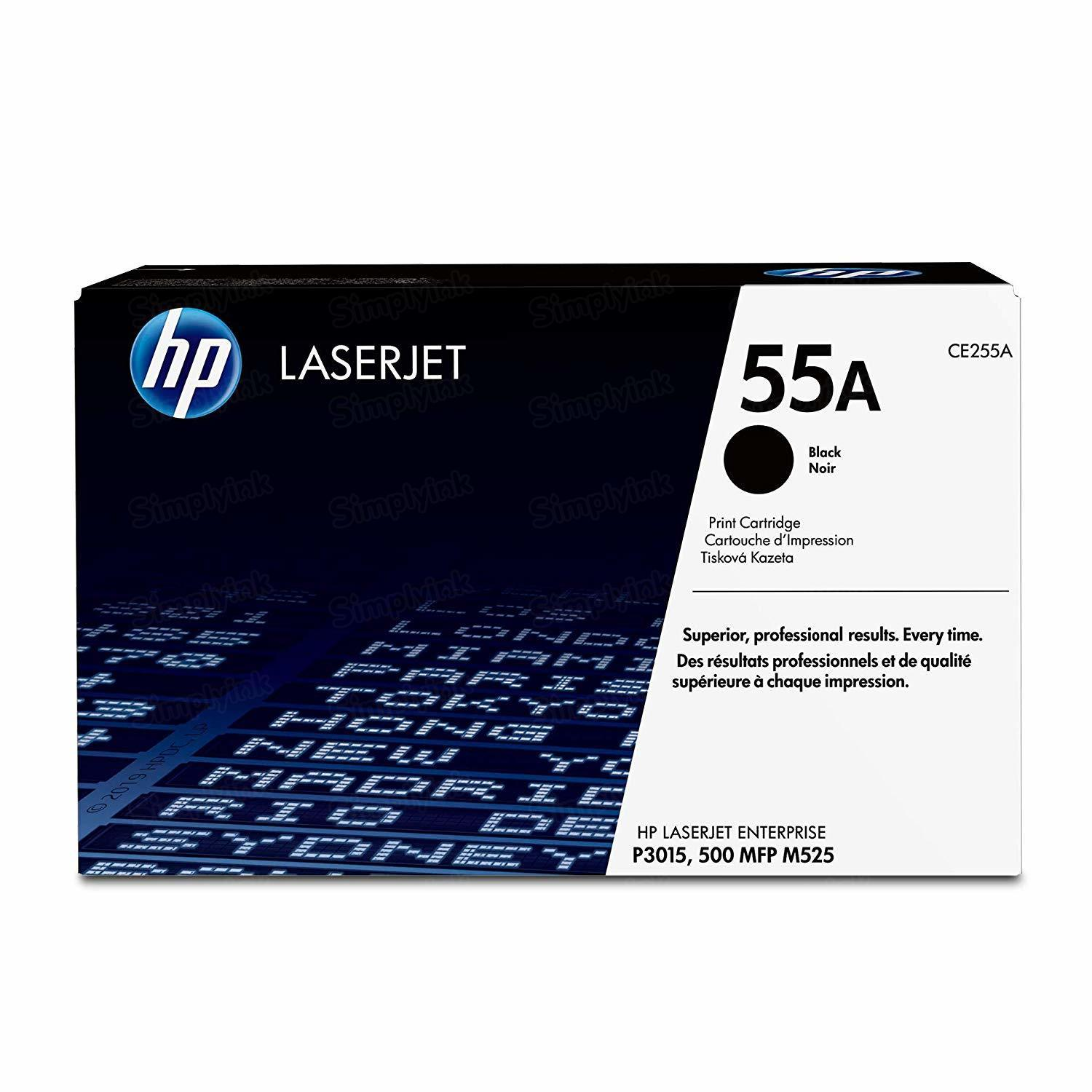 Original HP CE255A (55A) Black Toner